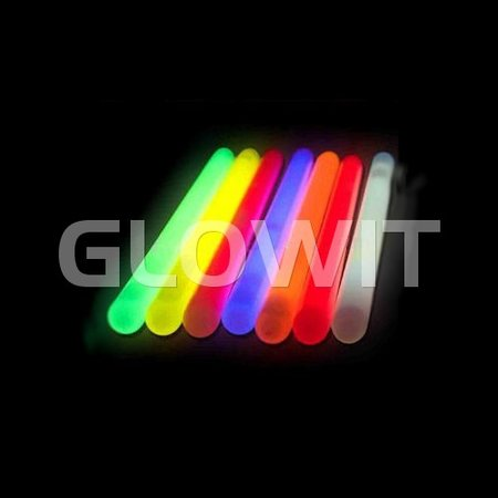 Glowit 10 Bâtons lumineux - 250mm x 15mm - Bleu