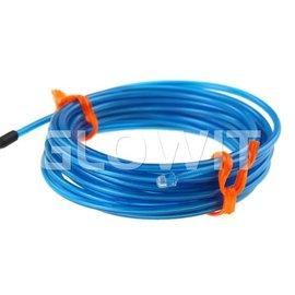 GLOWIT EL draad 2m (Op batterijen) Blauw