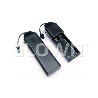 Glowit EL draad - 2m x 2.3mm - 3V (2 x AA batterijen) - Groen (Inclusief invertor)