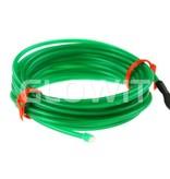 Glowit Fil EL - 2m x 2.3mm - 3V (2 x AA piles) - Vert (Inverteur Inclus)