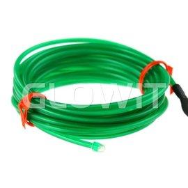 GLOWIT EL draad 2m (Op batterijen) Groen
