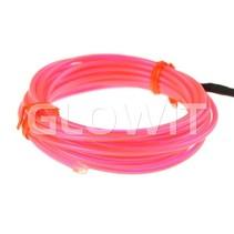 EL draad 2m (Op batterijen) Roze