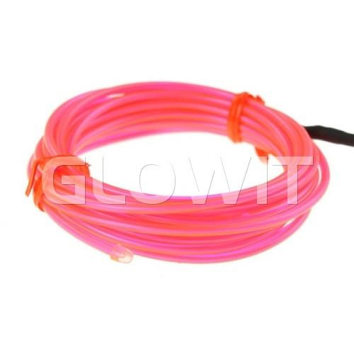 Glowit Fil EL - 2m x 2.3mm - 3V (2 x AA piles) - Rose (Inverteur Inclus)