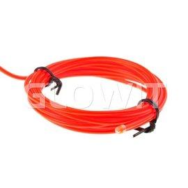 GLOWIT EL draad 2m (Op batterijen) Rood