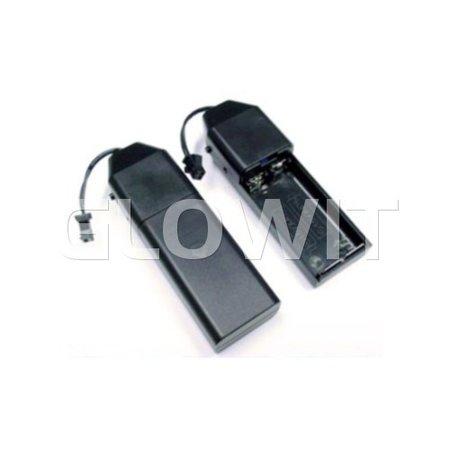 Glowit EL draad - 2m x 2.3mm - 3V (2 x AA batterijen) - Geel (Inclusief invertor)