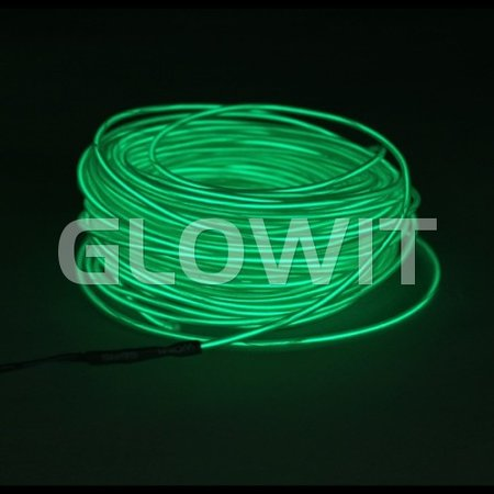 Glowit EL wire - 20m x 3.2mm - Green