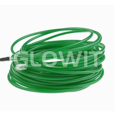 Glowit EL draad - 20m x 3.2mm - Groen
