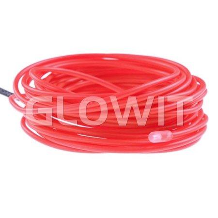 Glowit EL draad - 10m x 3.2mm - Roze