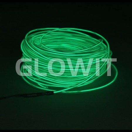 Glowit EL draad - 10m x 3.2mm - Groen