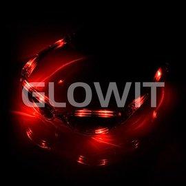 GLOWIT LED zonnebril Rood