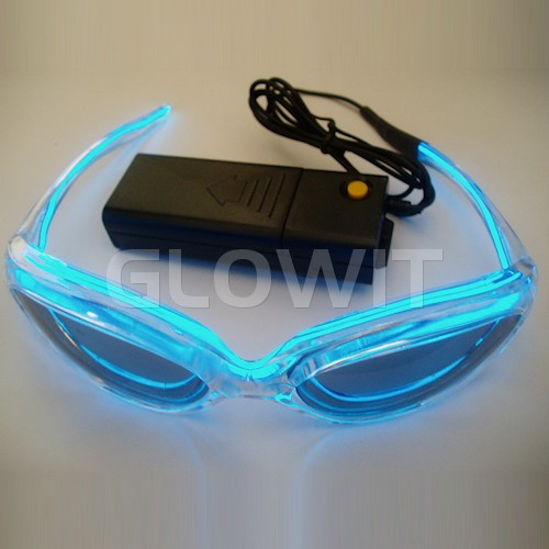 Glowit EL Sunglasses - 3v (2 x AA batteries) - Blue