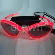 EL zonnebril (Op batterijen) Rood