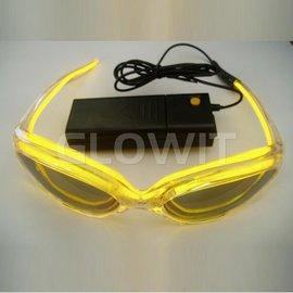 GLOWIT EL zonnebril (Op batterijen) Geel