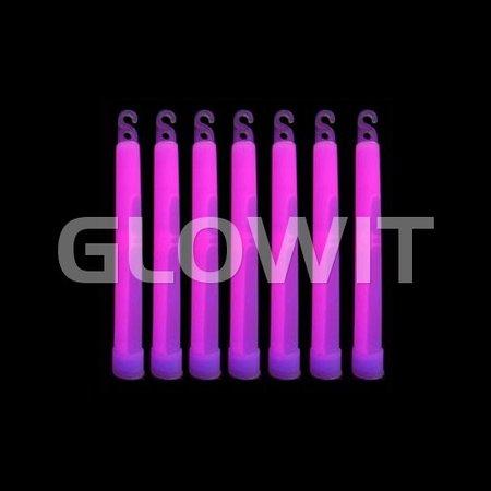 Glowit 25 glowsticks - 150mm x 15mm - Purple