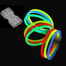 25 tripple bracelet glow connectors (Without sticks)
