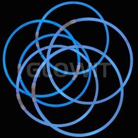 GLOWIT 300 Lichtgevende halskettingen 580mm Blauw