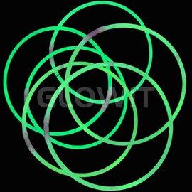 GLOWIT 300 Lichtgevende halskettingen 580mm Groen