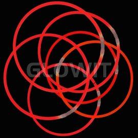 GLOWIT 300 Lichtgevende halskettingen 580mm Rood