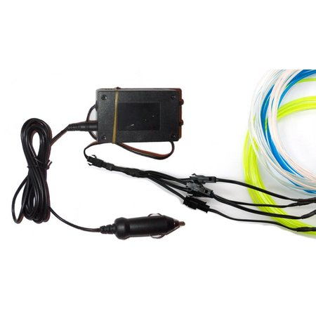 Glowit Inverter for EL wire 10m - 9-12V (Car adapter)