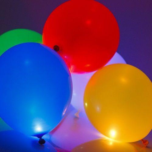 5 verlichte LED Ballonnen van 25cm - Blauw | GLOWIT