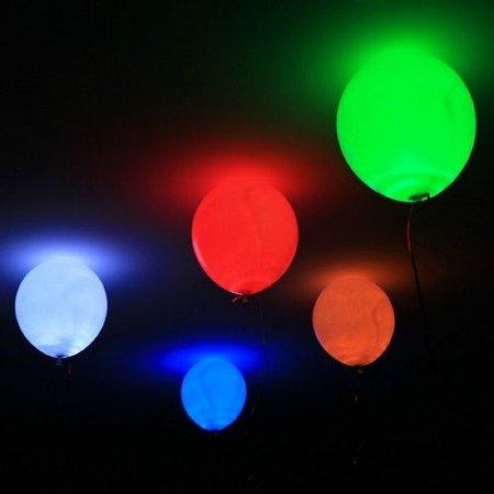 5 verlichte Ballonnen met LED
