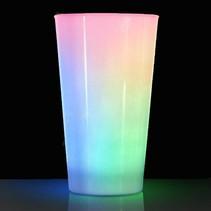 LED Glow beker wit