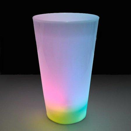 Glow LED beker wit