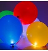 5 verlichte LED Ballonnen - Groen