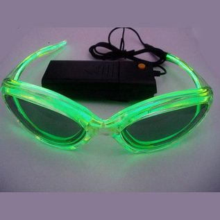 GLOWIT EL zonnebril - 3v (2 x AA batterijen) - Groen