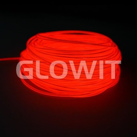 Glowit Fil EL - 5m x 3.2mm - Rouge
