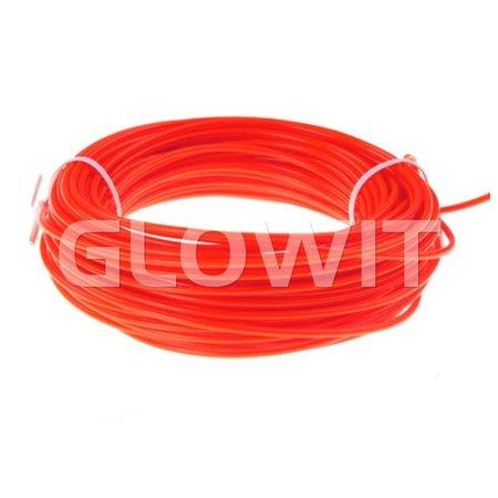 Glowit EL draad - 5m x 3.2mm - Rood