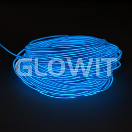 Glowit Fil EL - 5m x 3.2mm - Bleu