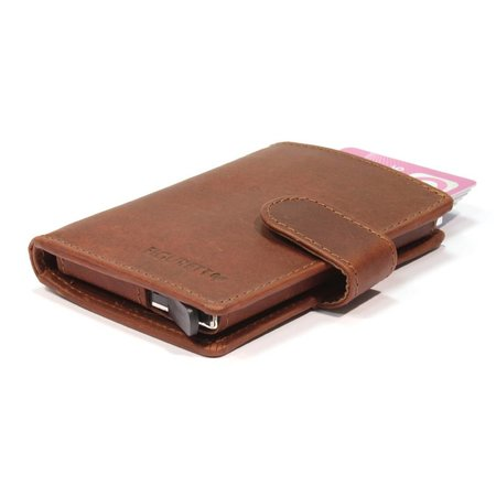 Figuretta Cardprotector cuire - Hunter brown