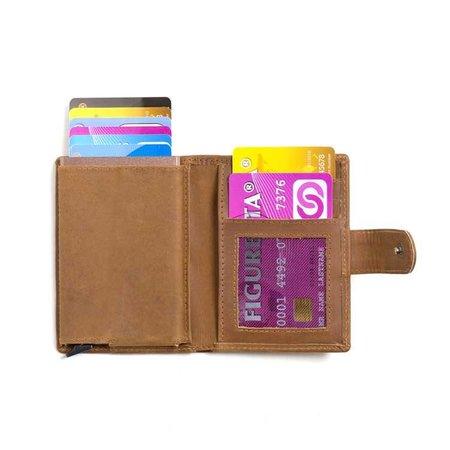 Figuretta Cardprotector leather - Kaki