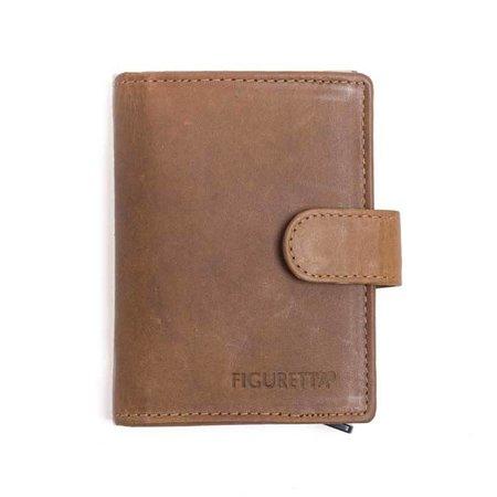 Figuretta Cardprotector cuire - kaki