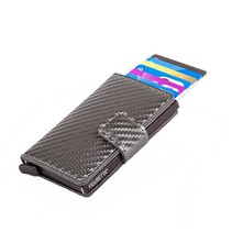 Cardprotector Carbon look - Antraciet