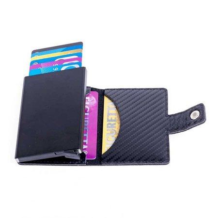 Figuretta Cardprotector Look Carbone - Noir
