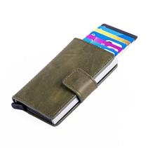 Cardprotector PU leer - Donkergroen