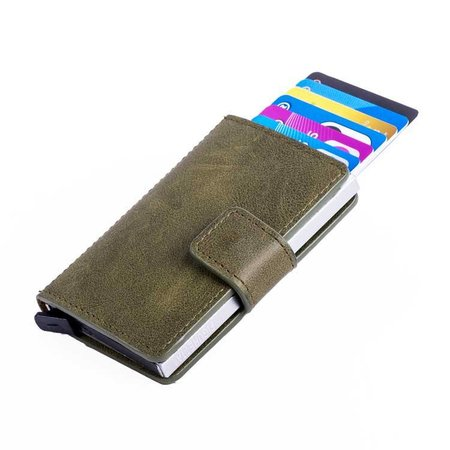 Figuretta Cardprotector PU leer - Donkergroen