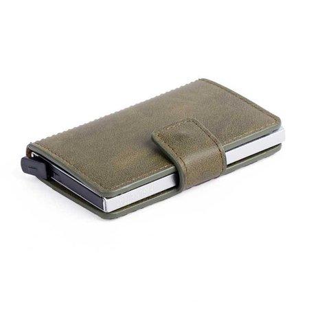 Figuretta Cardprotector cuire PU - Vert foncé