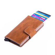Cardprotector PU leather - Cognac