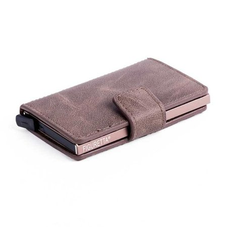 Figuretta Cardprotector PU leather - Dark brown