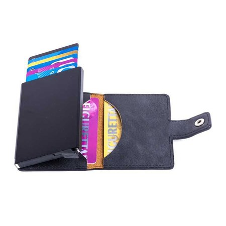 Figuretta Cardprotector PU leer - Antraciet