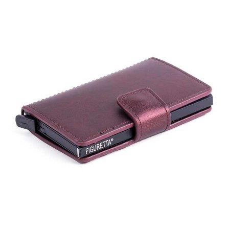 Figuretta Cardprotector cuir PU - Bordeaux