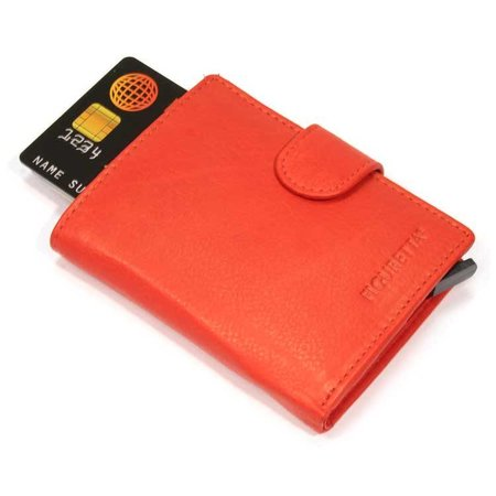 Figuretta Cardprotector leather - Red