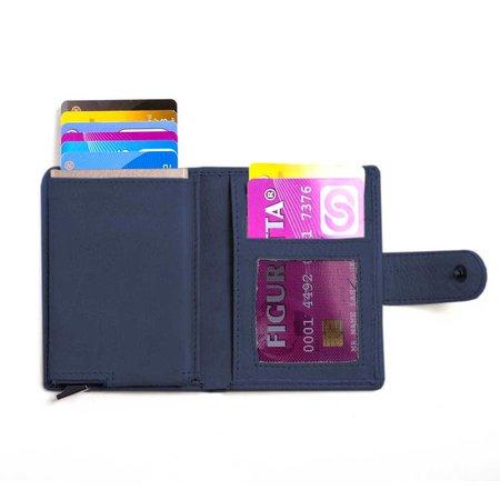 Figuretta Cardprotector leather - Dark blue