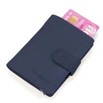 Cardprotector leer - Donkerblauw