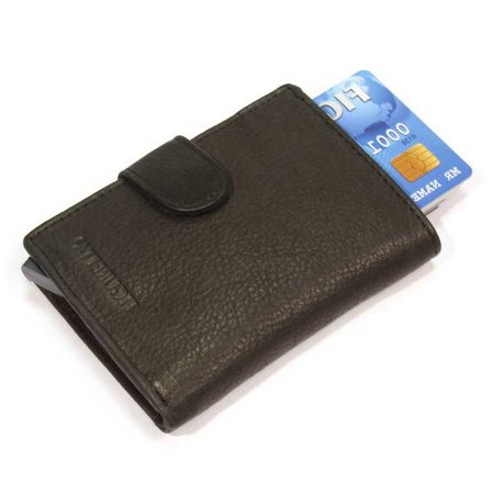 Figuretta Cardprotector cuir - Noir