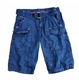 Alpha Industries Shorts Checked Indigo
