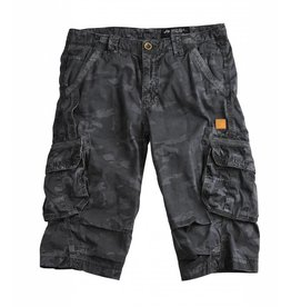 Alpha Industries Shorts Imperial 3/4 black camo